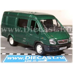 Gaz 2750 Gazelle Combi Russian Van Color Green 1:43 D43W0658