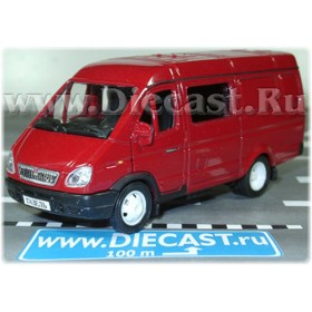 Gaz 2750 Gazelle Combi Russian Van Color Red 1:43 D43W0659