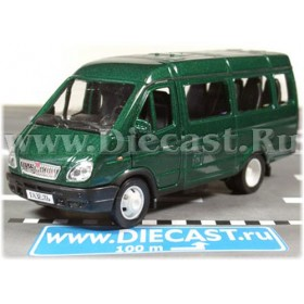 Gaz 3221 Gazelle Russian Passenger Van 2003 Color Green 1:43 D43W0662