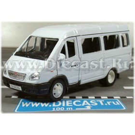 Gaz 3221 Gazelle Russian Passenger Van 2003 Color White 1:43 D43W0661