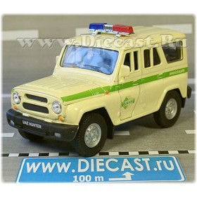 Uaz Hunter 4x4 Russian Armored SEcurity Bank Cash Suv 1:36 D36W1513