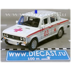 Lada Vaz 2106 Russian Ambulance EMS Emergency 1:36 D36W1341