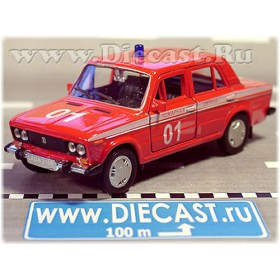 Lada Vaz 2106 Russian Fire Guard Emergency 1:36 D36W1344