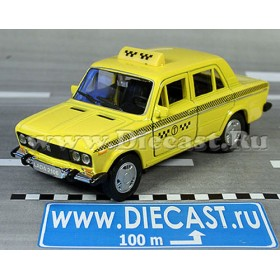 Lada Vaz 2106 Russian Yellow Cab Taxi 1:36 D36W1354