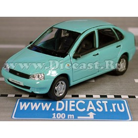 Lada Vaz 118 2118 Kalina Russian 5-Doors Hatchback Light Blue 1:34 D36W1361