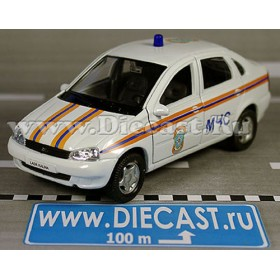 Lada Vaz 118 2118 Kalina Russian Ambulance Rescue Fire MCHS 1:34 D36W1359
