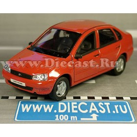 Lada Vaz 118 2118 Kalina Russian 5-Doors Hatchback Red 1:34 D36W1363