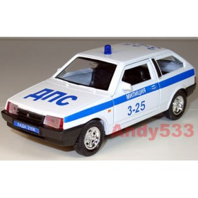 Lada Vaz 2108 Samara Coupe Russian Police Patrol Dps 1:38 D38W0226