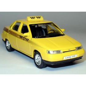 Lada Vaz 110 2110 Russian Yellow Taxi Cab 1:36 D36W0233