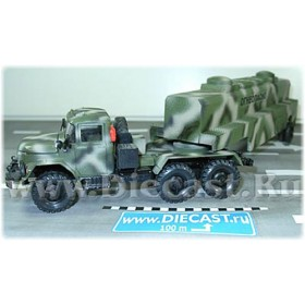 Zil 131 6x6 Awd SEmitrailer Military Fuel Tanker Russian Army 1:43 D43R1128