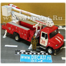 Zil 5301 Bichok Bull Russian Fire Engine With Skylift Handmade 1:43 D43R1956