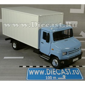 Zil 5301 Bichok Bull B3 Russian Commercial Delivery Truck (blue 1:43 D36W1381