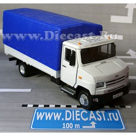 Zil 5301 Bichok Bull Be Russian Canvas Top Delivery Truck (whit 1:43 D36W1379