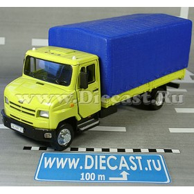 Zil 5301 Bichok Bull Be Russian Canvas Top Delivery Truck Yellow 1:43 D36W1376