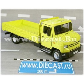 Zil 5301 Bichok Bull Ee Russian Flatbed Delivery Truck (yellow) 1:43 D36W1380