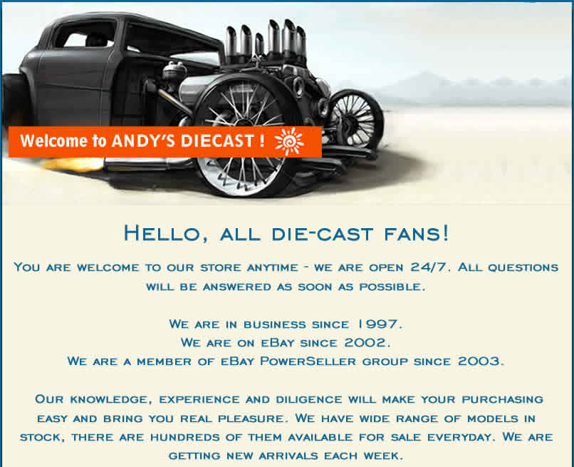 Andy's Diecast Scale Models Store