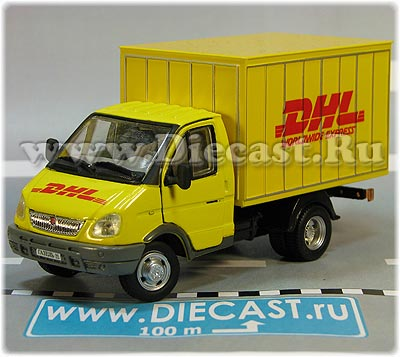 GAZ 3302 Gazelle DHL Post Mail Delivery Hardtop Box Truck