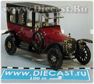 Russo-Balt C 24/40 Limousine Berlin 1913 Color Whine Red 1:43